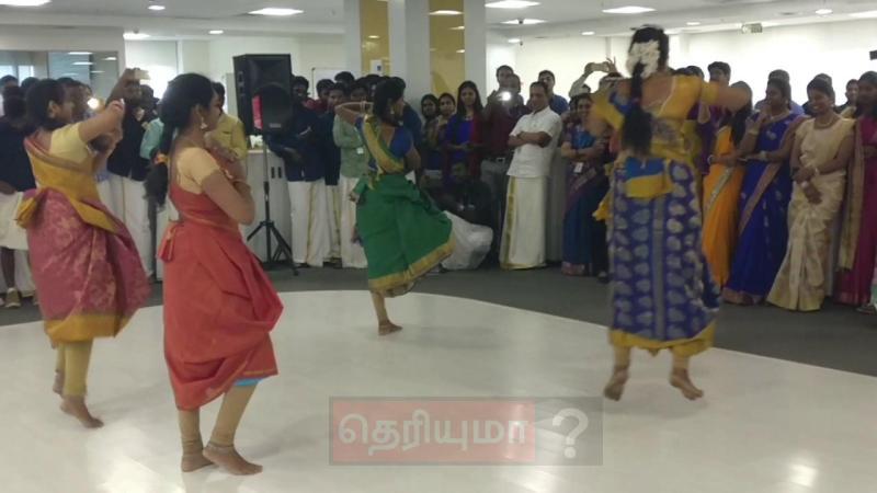 ஆபிசில் நடந்த விழாவில் தமிழ் பெண்கள் போட்ட செம டான்ஸ்