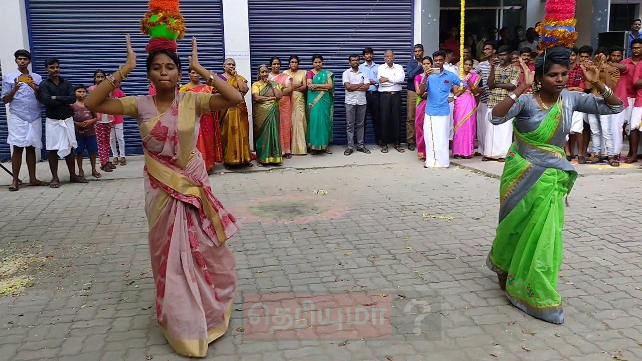 கல்லூரி மாணவிகள் ஆடிய செம கரகாட்ட டான்ஸ்