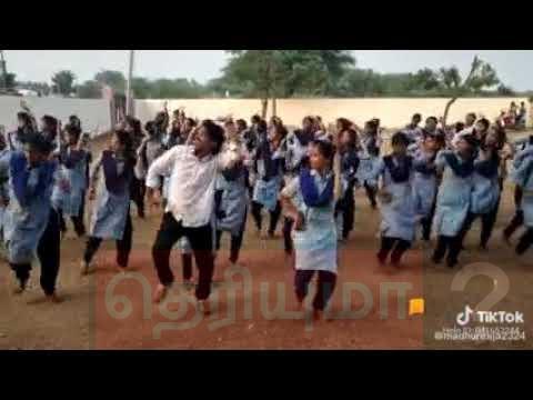 அரசு பள்ளி ஆசிரியர் மாணவிகளுடன் போட்ட செம டான்ஸ்