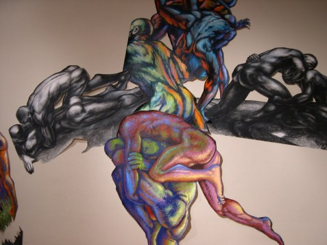 Detail from 2006 Newport, RI, exhibit; painting by Bob Dilworth