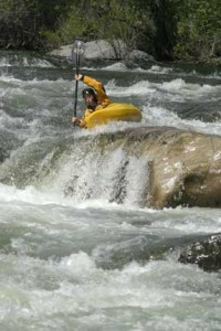 Photo by Gigi McBee Paddler: Jason Bates Giant Gap NF. American CA