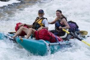 Gigi on the sticks Rogue River