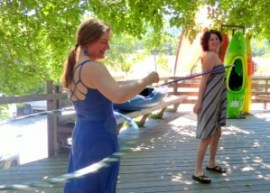 hoops, hoop dance, the river store, amy delosa