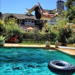 Backflips Behind The Mansion
