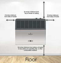 10,000 BTU Blue Flame Vent-Free Heater - Thermablaster