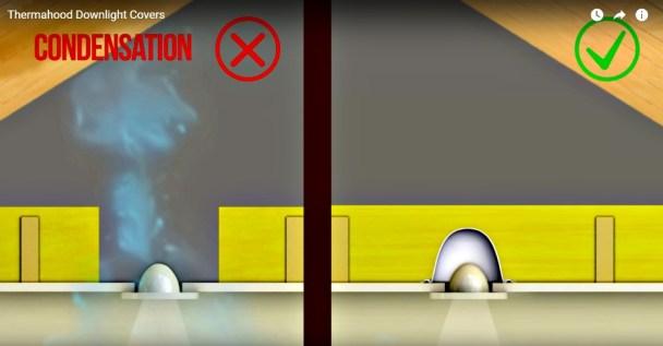 Condensation at downlights!