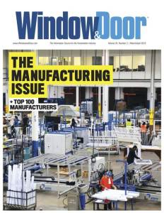 Window&Door March:April 2016.cover of issue featuring ThermalBuck
