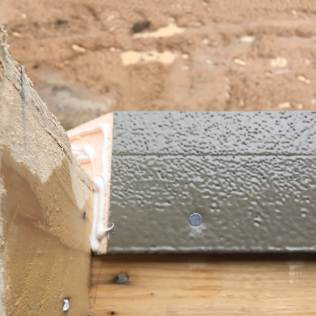"""ThermalBuck is secured to the RO with sealant and 2"""" roofing nails."""
