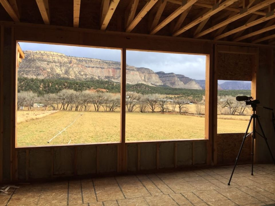 View from the Griffiths energy efficient Residence in Orderville, Utah
