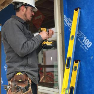 Screws are recommended for the window installation.