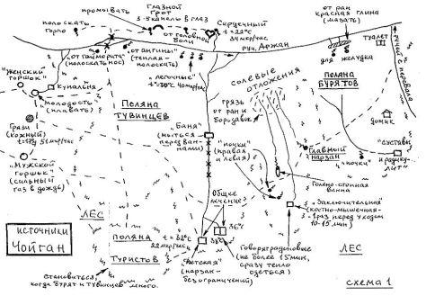 схема источника Чойган,Тыва