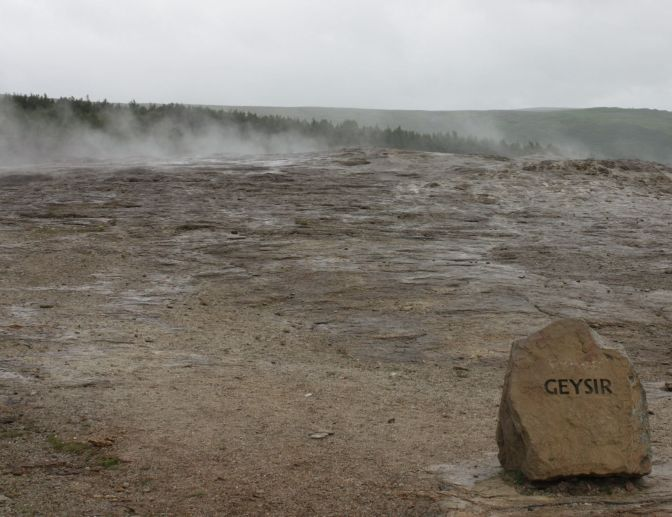 Geysir valley, Iceland