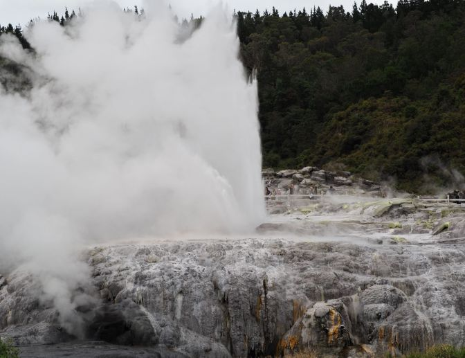 Te Puia Geothermal Area and Cultural Center, New Zealand