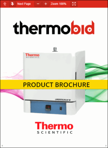 Thermo Scientific Lindberg/Blue M Moldatherm Box Furnace Product Brochure Product Brochure