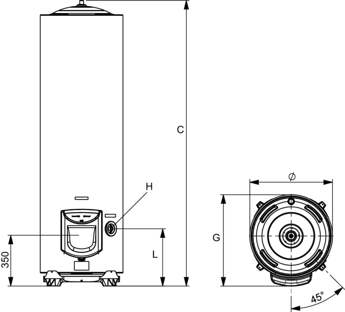 Ariston Thermo Chauffe Eau Electrique Vertical Mural Steatite 100 Litres Diametre 505mm Classe Energetique C Ref 3000450 Plomberie Bricolage