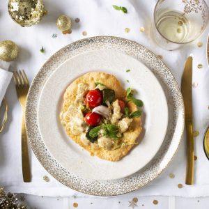 Papadams con verduras confitadas y salsa de yogur al curry_0960-scr