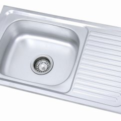 Kitchen Sinks With Drain Boards Micro Units Single Bowl Sink Board