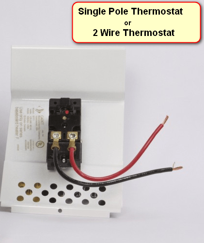 Wiring A Single Pole Thermostat Diagram