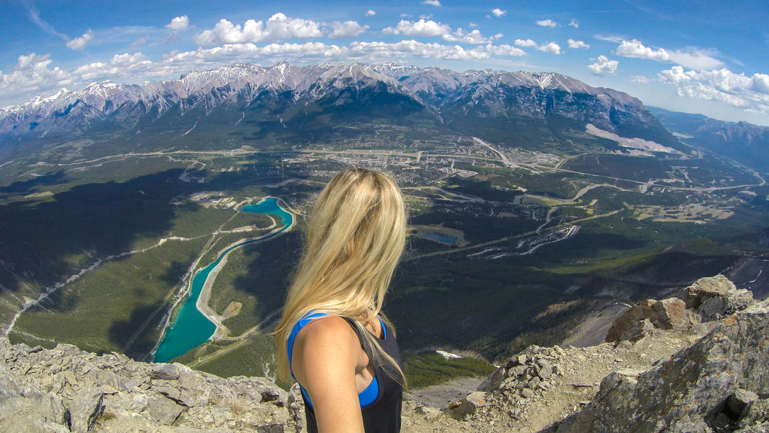 Lesley Murphy hiking in Banff, Canada