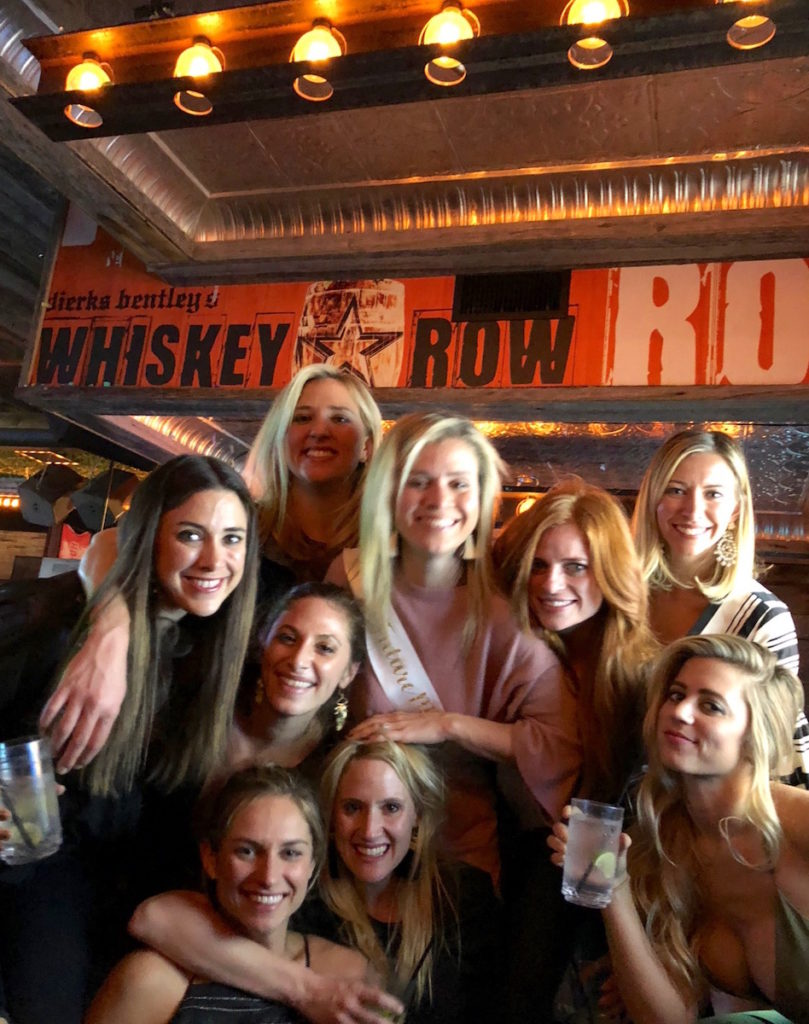 A group from a bachelorette party visit Dirks Bentley's Whiskey Row in Scottsdale Arizona