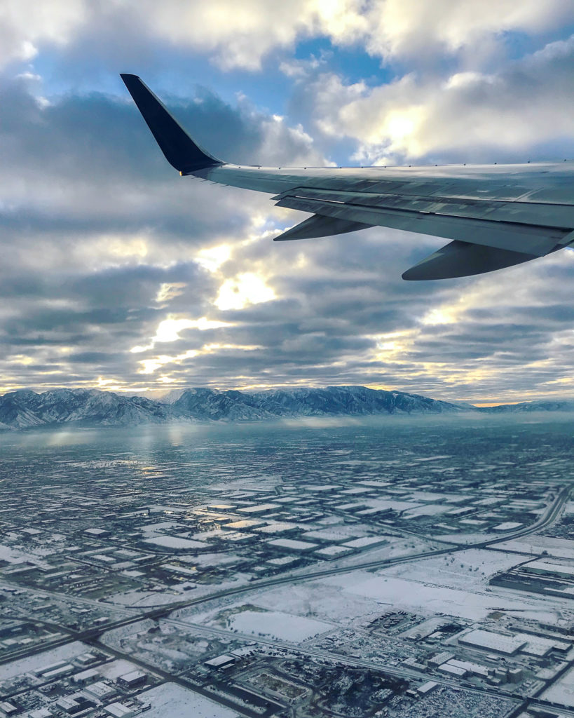 Lesley Murphy traveling from Salt Lake CIty, Utah