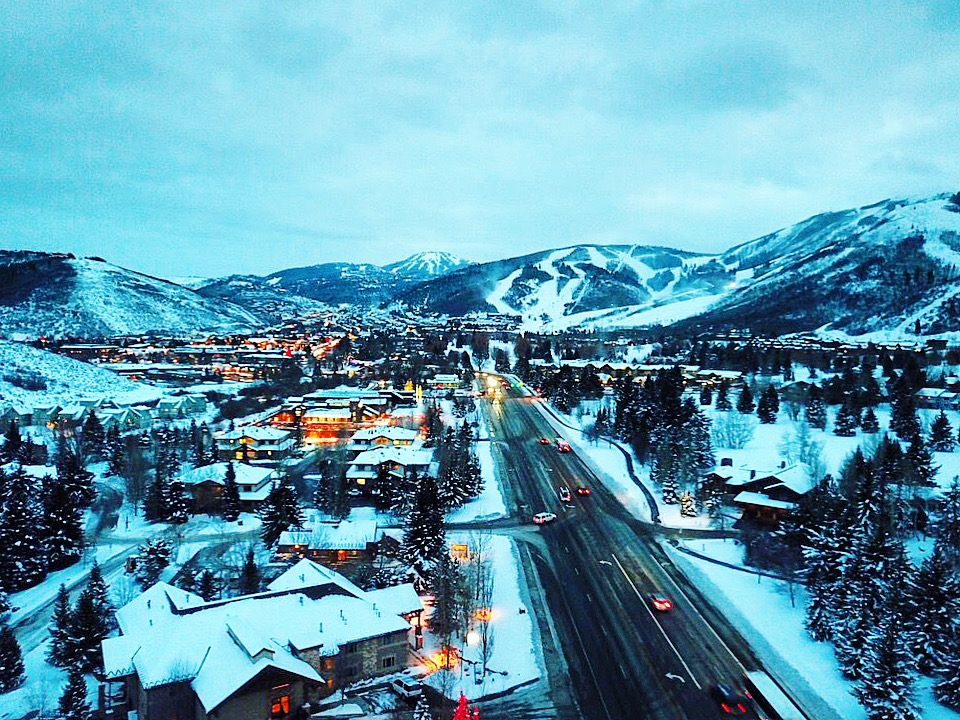 Park City, Utah, from a drone