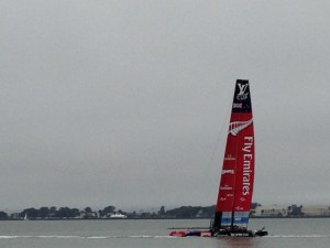An America's Cup yacht