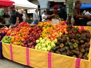 Vibrantly colored produce