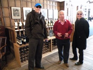 With Lovett at Berry Bros.& Rudd wine shop, founded in 1698