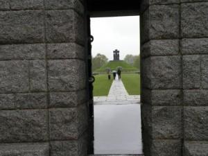 German cemetery entrance