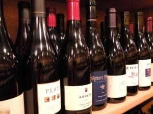 Close up bottles