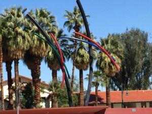 Palm Sprigs fountain