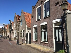 Edam houses trees