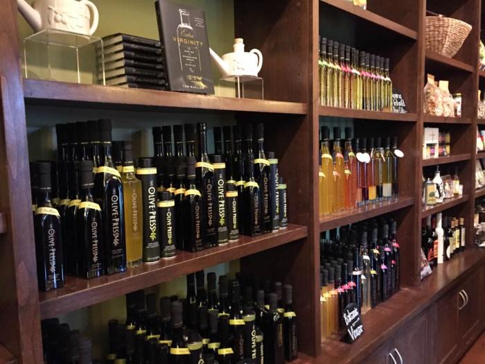 The Olive Press tasting room