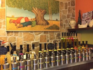 The Olive Press tasting display