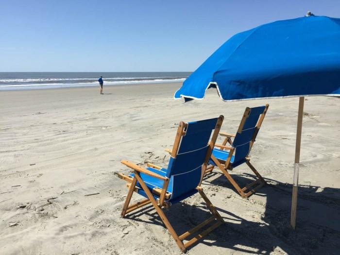 Kiawah chairs and umbrella