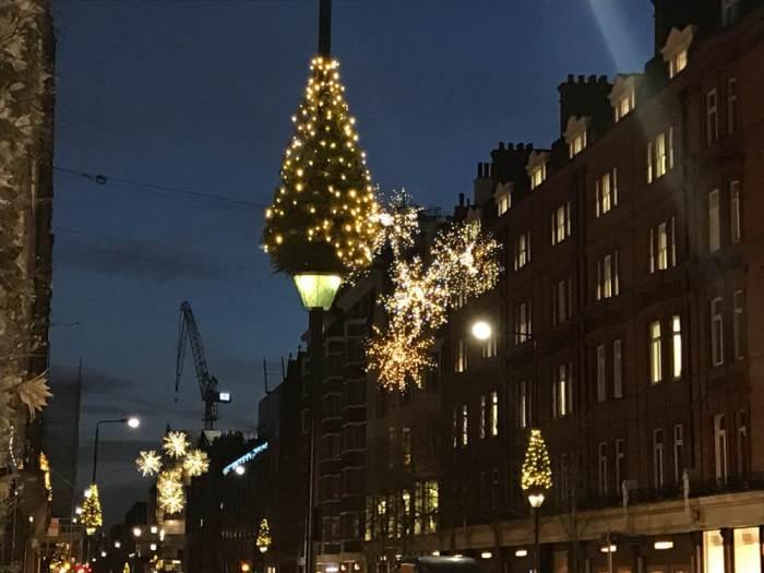 Christmas tree lights in London