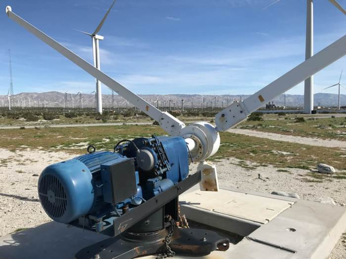 Windmill blades exhibit