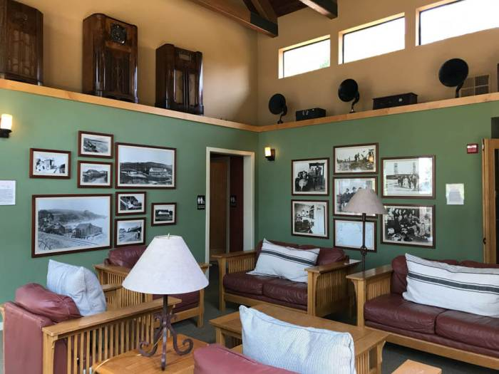 Lobby at Marconi Historic State Park