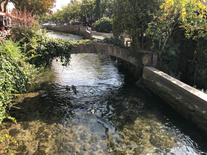 Sorgue River in L'Isle-sur-la-Sorgue