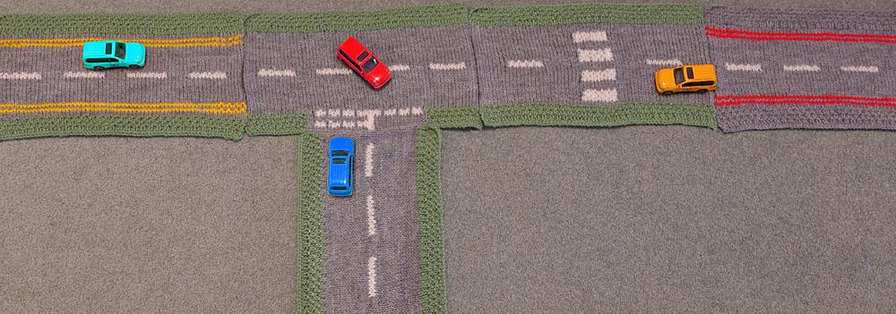 Play road knitting patterns