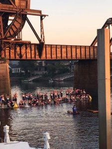 At IRONMAN 70.3 Augusta, the second wave is taking off the pier