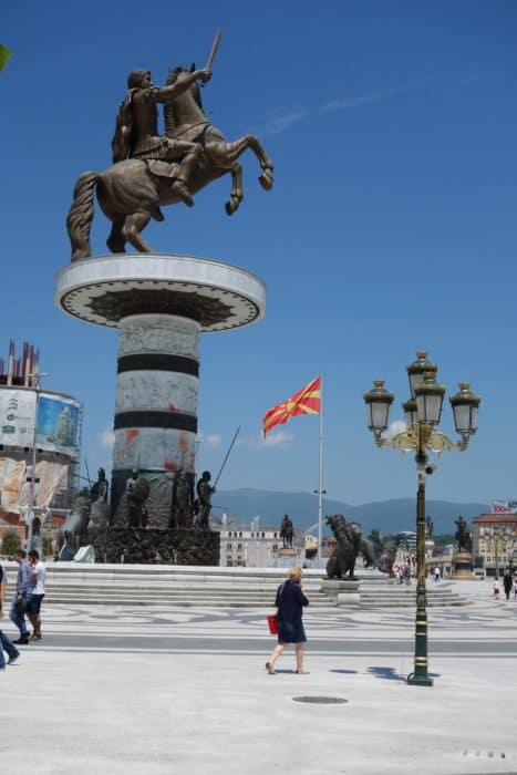 Warrior on horse,triumphal arch, statues, skopje 2014, architecture, strange, protest, colourful, colourful revolution, colour, colour, paint bomb, ottoman, old town, bazaar, Sveti Spas Church, stone bridge, Vardar river, Mustafa Pasha Mosque, Matka canyon, Vrelo Cave, hike, adventure, kayak, hi skopje hostel, A guide to Skopje: The modern, quirky & politically charged Macedonia capital with hidden history,