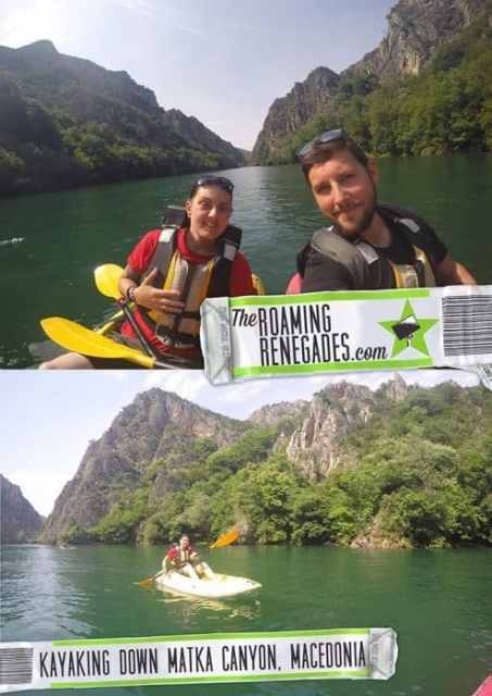 Kayaking for 3hrs down the amazing Matka Canyon to discover the amazing hidden cave on the water! Macedonia > https://theroamingrenegades.com/2016/08/kayaking-for-3hrs-down-the-amazing-matka-canyon-to-discover-the-amazing-hidden-cave-on-the-water-macedonia.html