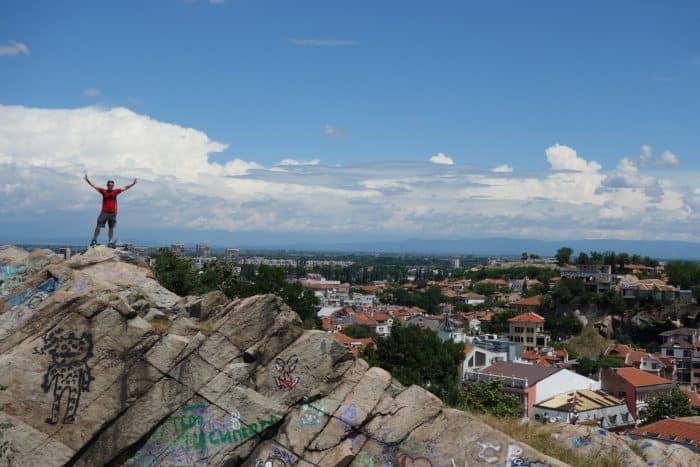 Plovdiv: The ancient Roman city with a young bohemian charm, amazing street art, climbing, scrambling, hill, explore, adventure, things to do in Plovdiv, things to see, what to do, top 10, ten, Ottoman, Old Town, Balabanov's house, Danov house, ethnographic museum, graffiti, Roman amphitheatre, Alyosha Soviet Army Memorial, viewpoint, Bunarjik Hill, Alyosha Skurlatov, Roman Stadium, hike, Trimontium, Dzhumaya Mosque, The trap, Kapana, art, creative, craft, artists, airBnB
