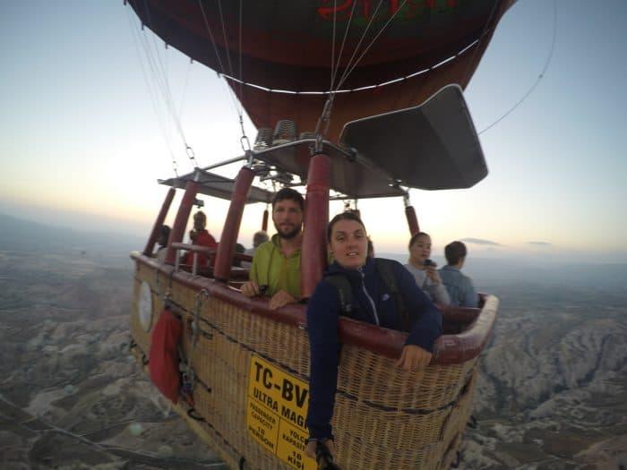 Hot air balloon cappadocia, Cappadocia, Capadoccia, Kappadocia, Kappadokiya, Turkey, Turkiye, hotair balloon, ballooning, Goreme, Voyager balloons, voyager cappadocia, bucket list, dream destination, sun rise, fairytale, fairy towers, GoPro, Rose Valley, price,