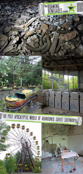 Delving into the post apocalyptic world of abandoned soviet Chernobyl and exploring the eerie streets of Pripyat. > https://theroamingrenegades.com/is-it-safe-to-visit-chernobyl-tours-from-kiev-Ukraine/   #travel #Chernobyl #Ukraine #Urbex #AdventureTravel #EasternEurope #Europe #Pripyat>