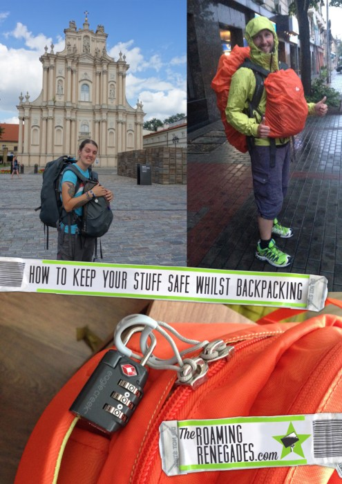 How to keep your belongings safe whilst travelling/ backpacking. Tips for the road, backpack, travel, traveling, traveler, traveller, tips, advice, safety, stolen, con, transport, bus, coach, train, locker, lock, key, how to go backpacking, round the world trip, money, passport, hostel, hostels, staying in hostels, dorm room, dorms, budget travel, student,