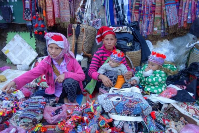 Trekking with H'Mong minority hill tribe through the rice terraces and mountains of Sapa. A highlight of Vietnam