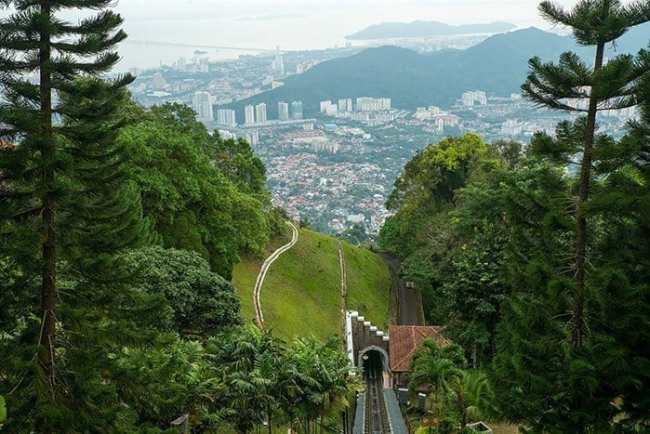 Penang Itinerary: What to do in Penang in 3 days. A Guide to this Beautiful & Historic Town in Malaysia: Penang Hill funicular, Railway, view, George Town